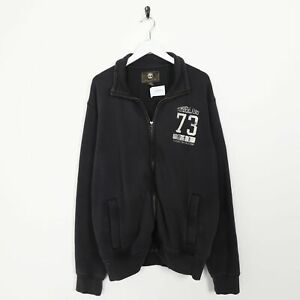 Vintage-TIMBERLAND-Small-Logo-Zip-Up-Sweatshirt-Jumper-Large-L