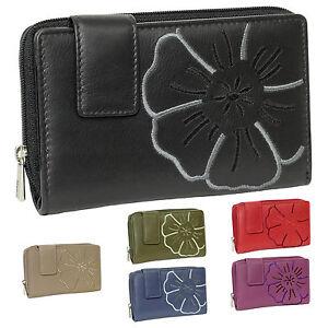 Damen Portemonnaie Geldbörse Geldbeutel schwarz