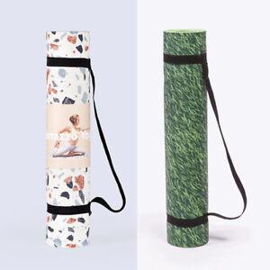 Nature-Yoga-Terrazzo-Yogamatte-DOIY-173-x-60-cm-Rasen-Pilates-Matte-Tragegurt