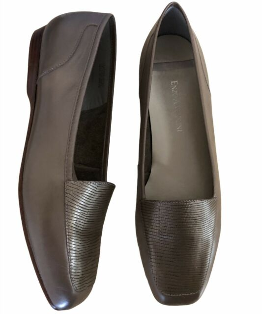 Enzo Angiolini Shoes 8.5 M Leather Flats Slip On Loafers Liberty Made in Brazil
