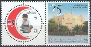 Qatar-2003-mi-1216-17-cruz-roja-red-crescent-nino-Child