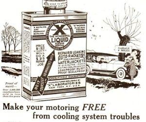 Details About 1920 Ad Vintage Automobile Car Part X Liquid Radiator Repair Schatz Ball Bearing