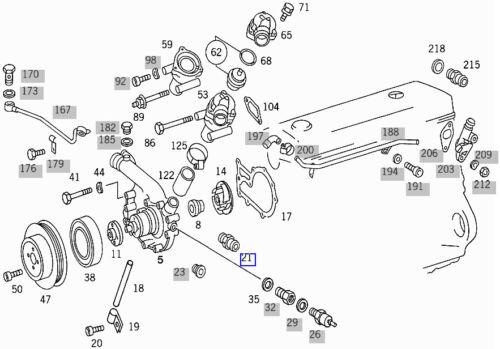 Mercedes Pompe à eau de refroidissement Tuyau de Port A6219970872