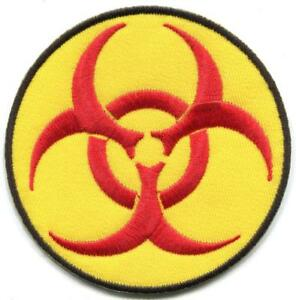 Biohazard symbol sign danger toxic poison alert applique iron on image is loading biohazard symbol sign danger toxic poison alert applique altavistaventures Gallery