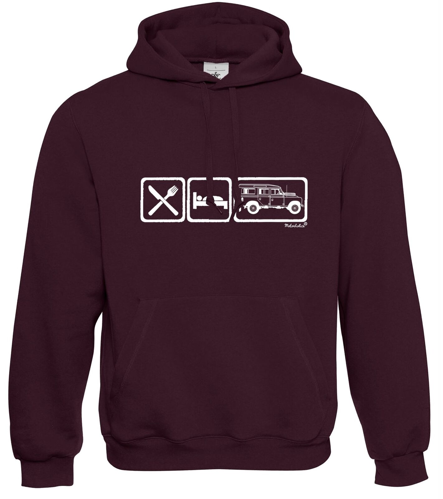 Motorholics Mens Eat Sleep Land Rover 109 Series 3 LWB III Hoodie S - 5XL