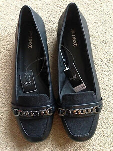 BNWT-NEXT-Ladies-Black-Slip-On-Loafers-Shoes-UK-3-5-EU-36-RRP-28
