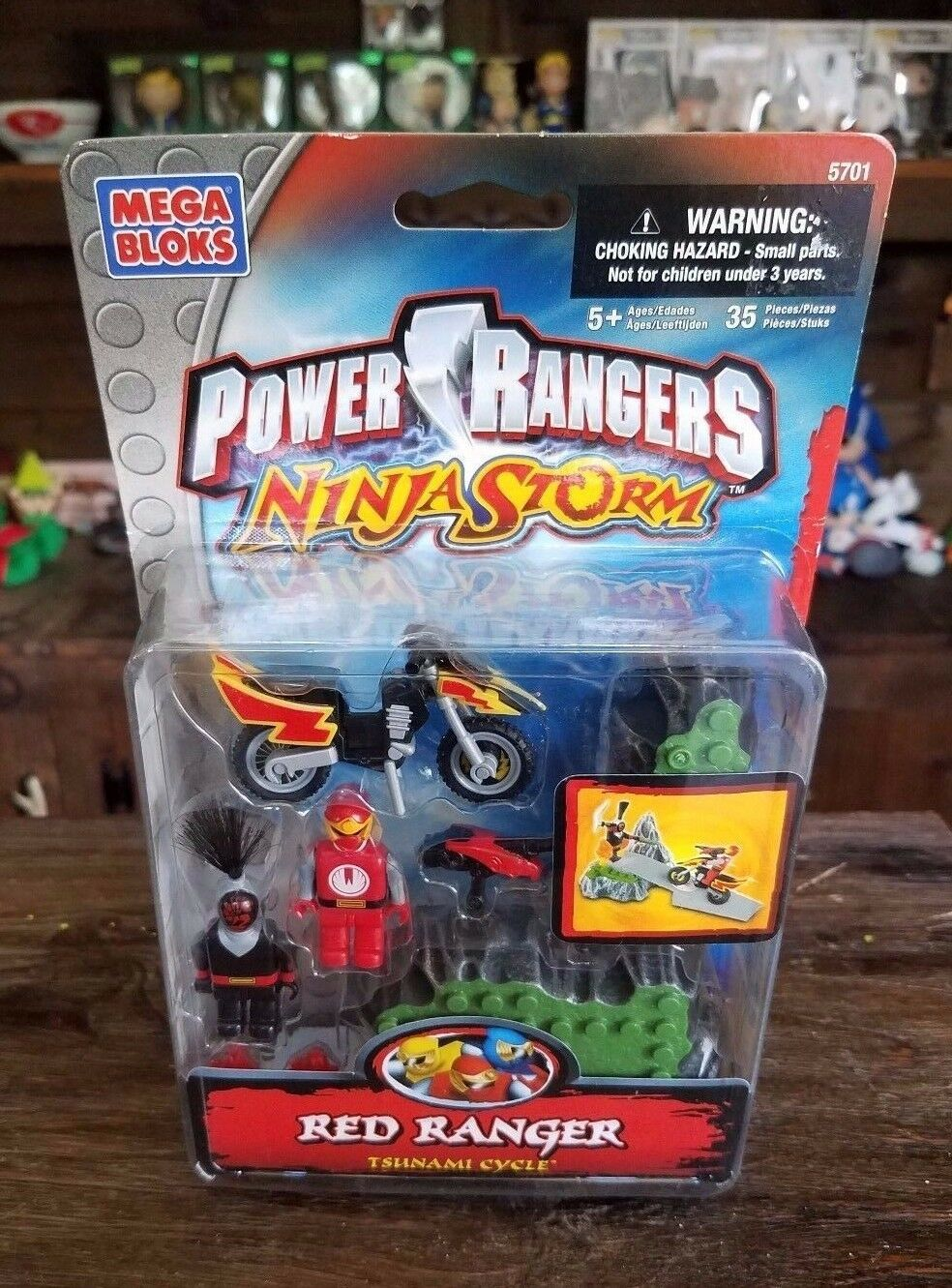 Mega Bloks Power Rangers Ninja Storm Red Red Red Ranger Tsunami Cycle Brand New e39a2c