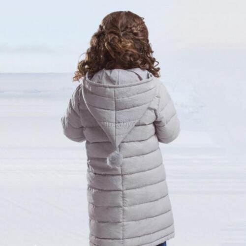 Plus Size Coat Baby Boys Girls Warm Hooded Jacket Outwear Winter 3-14T Kids