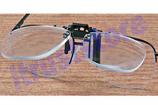 3X JEWELERS CLIP ON FLIP UP MAGNIFIER EYEGLASS LENS READING GLASSES READERS