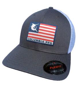 28208ede46240 Details about Columbia Unisex Flag Flexfit Mesh Ballcap Cap Hat VARIETY  COLORS