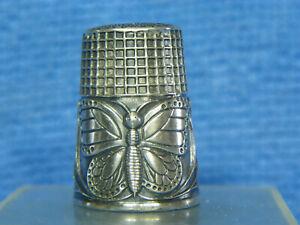 """Dé à coudre en argent décor """"Papillon"""" / silver thimble/ Fingerhut silber"""