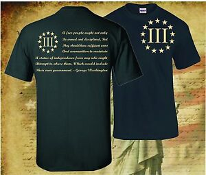THREE-PERCENTER-PATRIOT-APPAREL-USA-T-SHIRT-MOLON-LABE-2ND-AMENDMENT-3-PERCENT