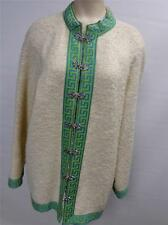 womens thk Danico pure worsted wool model clasp cardigan JACKET coat sz16 CLEAN