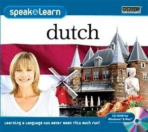Speak & Learn Dutch  Win XP Vista 7 8 10 MAC  Brand New  Easy Way to Learn Dutch