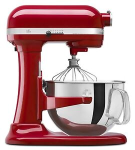 Kitchenaid Pro 6000 Hd 600 Stand Mixer 6 Quart Big Super Red Silver