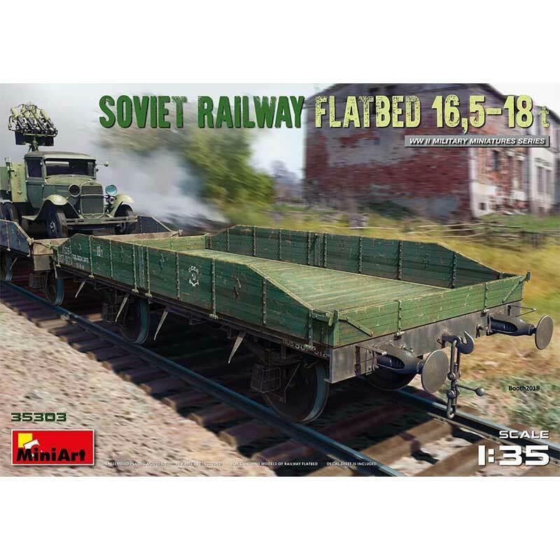 Entrega rápida y envío gratis en todos los pedidos. MINIART 1 1 1 35 KIT CocheRO FERROVIARIO SOVIET RAILWAY FLATBED 16,5-18t    ART 35303  tienda de venta