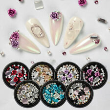 Nail Rhinestones Rose Jewelry Gems Mix Nail Glitter Tips 3D Nail Art Decoration
