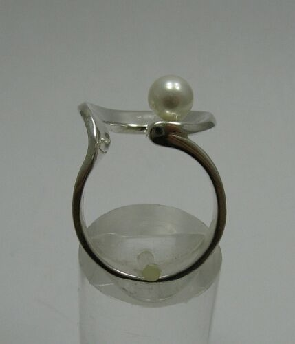 STYLISH STERLING SILVER RING SOLID 925 WITH 6mm PEARL SIZE G-Z R001232 EMPRESS