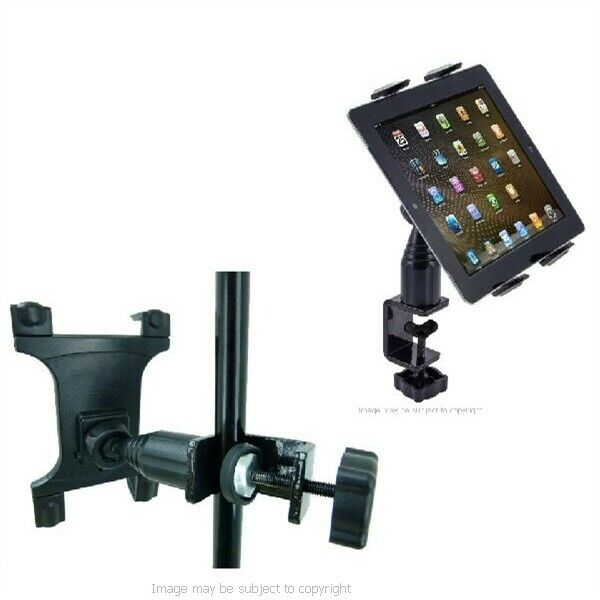 Music Mic Stand Holder Mount for Apple iPad AIR Desk Heavy Duty Secure Table