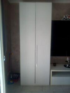 armadio 2 ante bianco effetto larice usato in perfette condizioni | eBay
