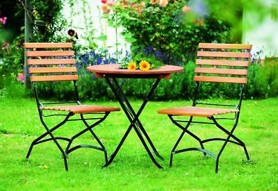 Sitzgruppe Gartengarnitur Gartenmöbel Bistroset Schlossgarten Metall Holz 3 Teil Ebay