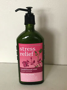 NEW-BATH-amp-BODY-WORKS-AROMATHERAPY-STRESS-RELIEF-BODY-LOTION-SANDALWOOD-ROSE