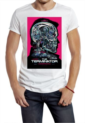 Terminator T-shirt Robot Pink Inspired Arnie Movie Sci-Fi Film Tumblr uk retro