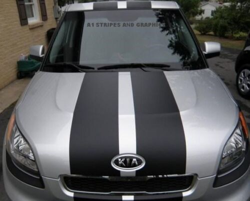 """10/"""" Plain Rally stripe set Stripes Graphics Graphic Decals Fit All Year Kia Soul"""