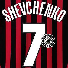 SHEVCHENKO PERSONALIZZAZIONE MILAN CENTENARIO HOME NOME NUMERO SET NAME 1999-00