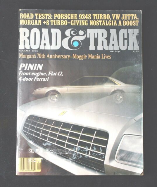 Road & Track 8/'80 Morgan Tribute, Pinin Ferrari, Porsche