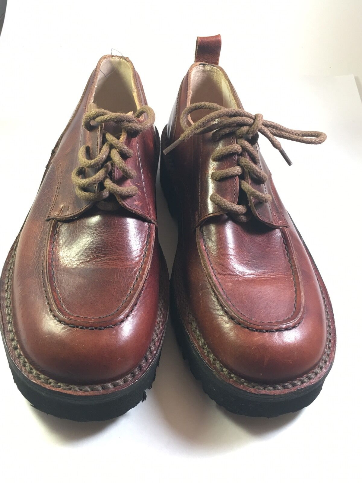 J CREW Mens Brown Leather shoes Size 40       1997 SAMPLE