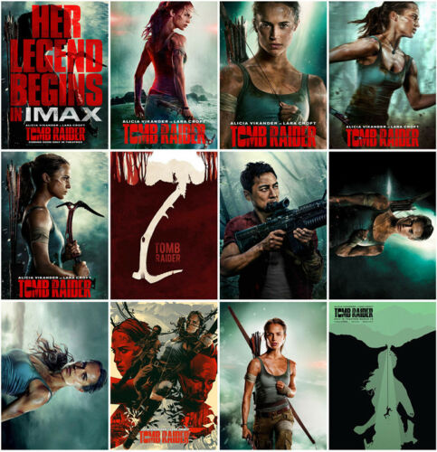 Mirror Surface Postcard Promo Poster Card Collector AA2 2018 12pc Tomb Raider