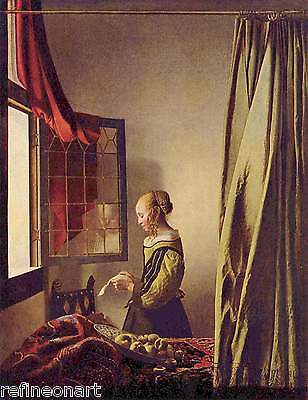 Girl Reading a Letter by an Open Window by Johannes VermeerGiclee Print Repro
