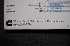 cummins engine isle4 cm850 wiring diagram electrical. Black Bedroom Furniture Sets. Home Design Ideas