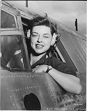 B&W WW2 Photo WWII WASP Pilot Harlingen TX AAF