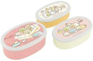 San-X Sumikko Gurashi Cat Lunch Box Container set pf 3pcs. Skater From Japan