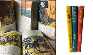 Vtg 1965 Wonderful World Walt Disney 3 Volumes AMERICA -Other Lands-FANTASYLAND