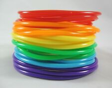 New High Quality 20 Piece Rainbow Jelly Bracelet Set Gay Pride #B1112A-20