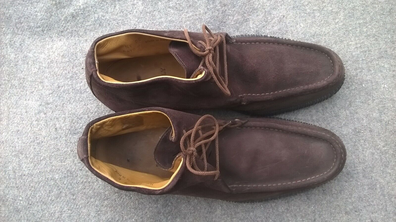 MENS BALLY BATO-M BROWN SUEDE BOOTS SHOES SIZE 9 E CASUAL FORMAL