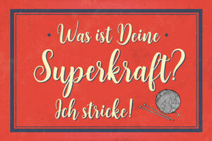 Superkraft-Stricken-Blechschild-Schild-gewoelbt-Metal-Tin-Sign-20-x-30-cm