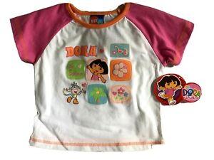 Nickelodeon Toddler Girls T-Shirts Dora the Explorer Various Toddler Sizes NWT