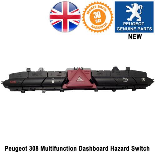 Peugeot 308 Hazard Central Locking Parking Sensor Switch Warning Control Panel