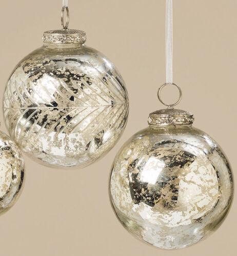 glänzend Dekokugel Weihnachtenskugel XMAS Hänger Kugel ⌀7cm Glas silber matt o