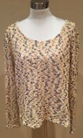Minkpink Loose Knit Crochet the Children Of The Corn Sweater Size Large