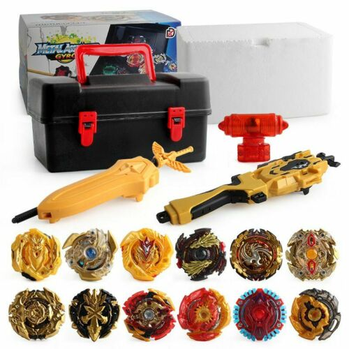 12PCS Beyblade Burst Customize Set w// LR Launcher Bayblade Storage Box Case Gift