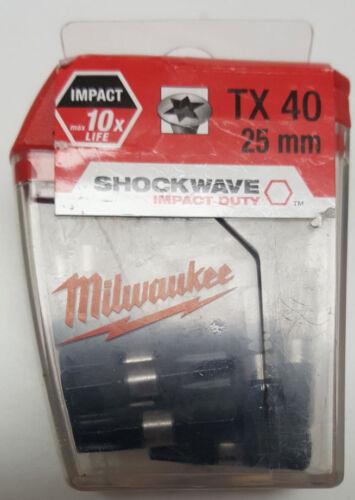 "TX25 Milwaukee Magnetbithalter  25 Stück Bit-Box PH PHZ PZ TX TORX LS 1//4/"""