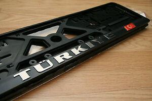 2-Stueck-Kennzeichenhalter-Nummernschildhalter-3D-Tuerkiye-EU-Standardgroesse