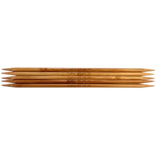 "Bamboo PORTOFREI HiyaHiya Nadelspiel 6/"" DPN/'s Sockennadeln Bambus"
