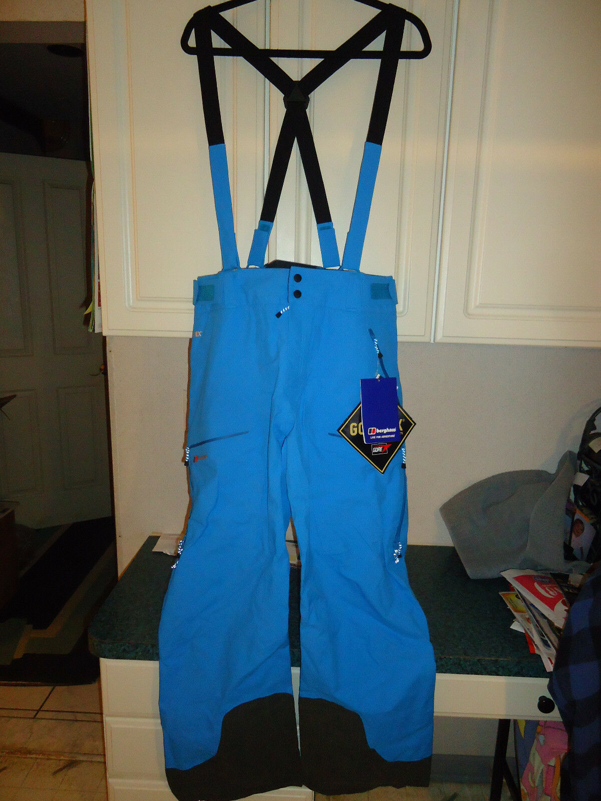 BERGHAUS THE FRENDO  GORE-TEX SHELL PANTS WOMEN'S LARGE (L) blueE - SRP  330  limit buy
