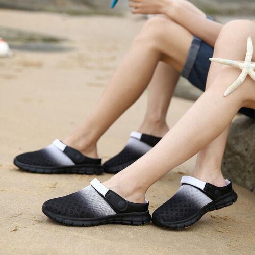 Herren Damen Flip Flop Clogs Mesh Badeschuhe Sandalen Hausschuhe Slippers Strand